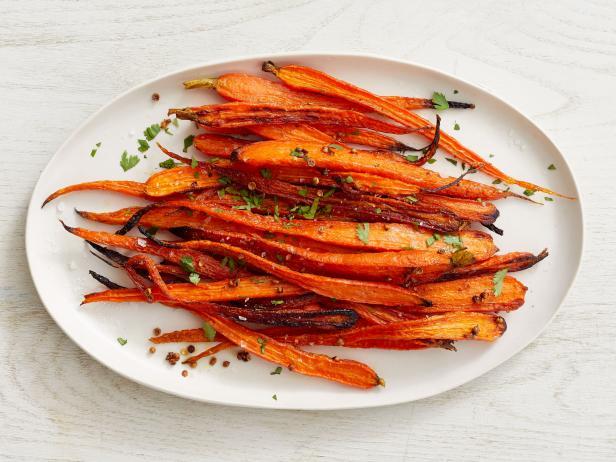 45. Печеная морковь с кориандром