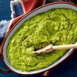 Пюре из зелёного горошка с мятой
