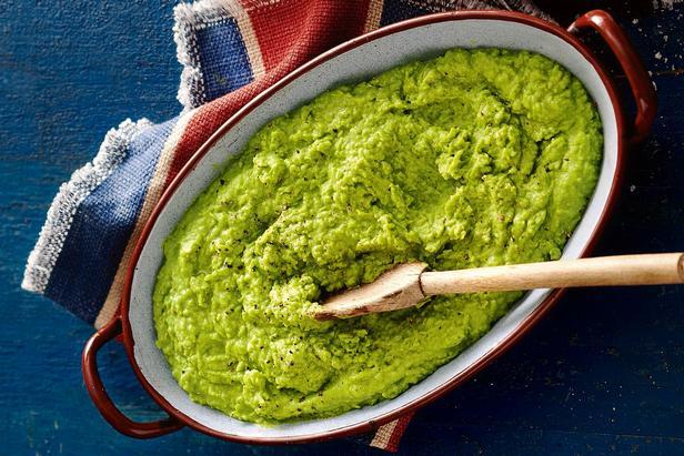 Фото Пюре из зелёного горошка с мятой