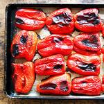 Печёные сладкие перцы
