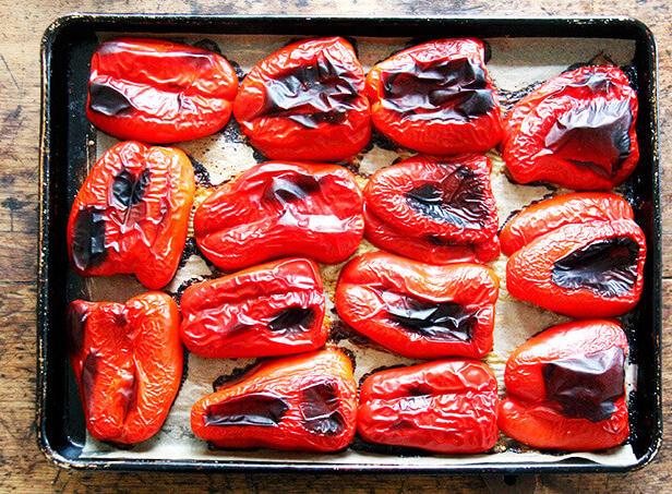 Фото Печёные сладкие перцы