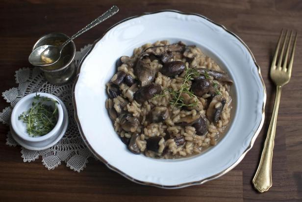 Фото Ризотто с грибами и трюфельным маслом