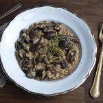 Ризотто с грибами и трюфельным маслом