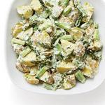 Кремовый картофельный салат со спаржей