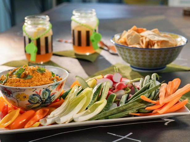 Соус хумус из печёной моркови