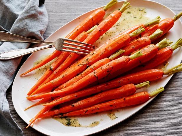 Морковь в винегретной заправке с лимоном и укропом (в пароварке)