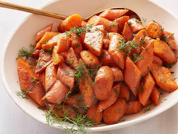 Печёная морковь