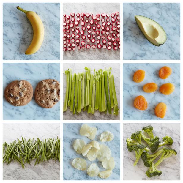 Фото 100 калорий в порциях продуктов