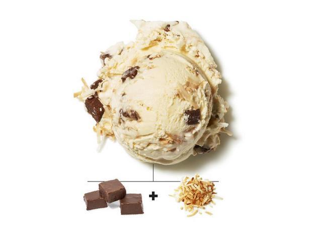Шоколадный ирис и жареная кокосовая стружка