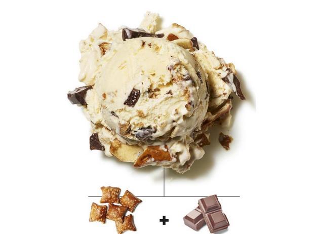 Крендельки с начинкой из арахисовой пасты и шоколад
