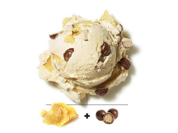 Картофельные чипсы и солодовое молоко в шоколаде