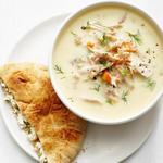 Греческий лимонный суп с полбой