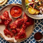 Куриные крылья с марокканской хариссой