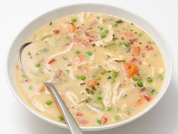 Рисовый суп-пюре с курицей