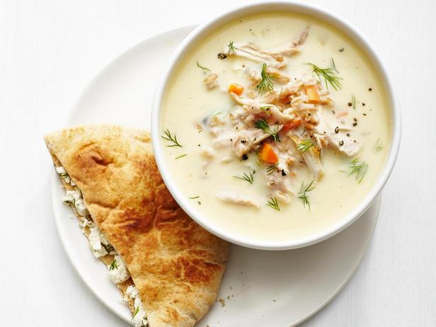 Греческий лимонный суп с курицей
