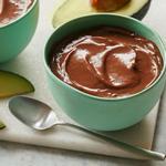 Шоколадный пудинг с авокадо