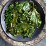 Тушёная листовая горчица