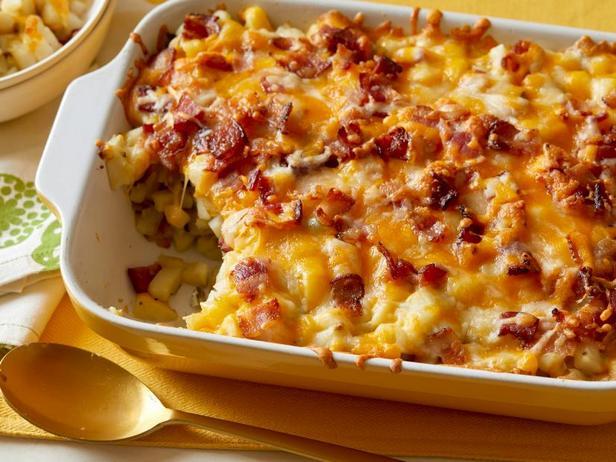 Фото Запечённая картошка с сырной корочкой