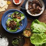 Низкоуглеводные бургеры в салатных листьях
