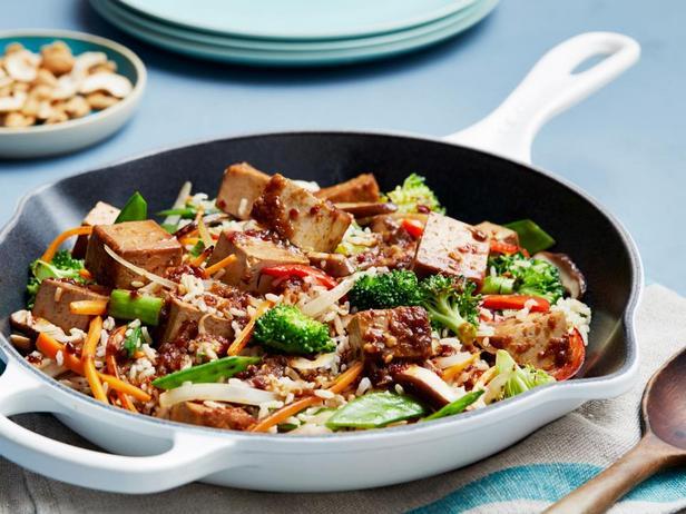 Жареный тофу с овощами за 15 минут