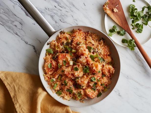 Фото Острые креветки с рисом