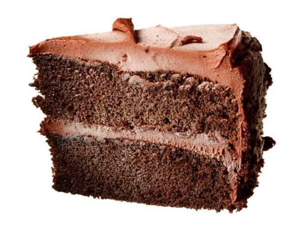 Ломтики шоколадного торта
