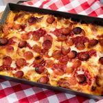 Пицца пепперони по-детройтски