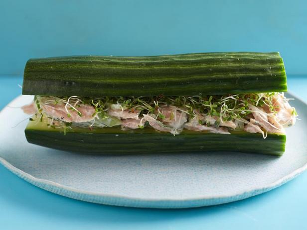Сэндвичи без хлеба из огурца с тунцом