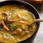 Гороховый суп с копчёной свининой