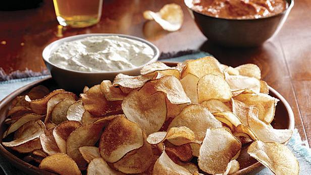 Фото Настоящие чипсы со вкусом сметаны и лука
