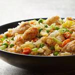 Быстрый жареный рис с курицей