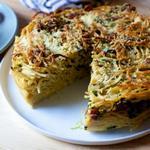 Пирог «Спагетти карбонара»