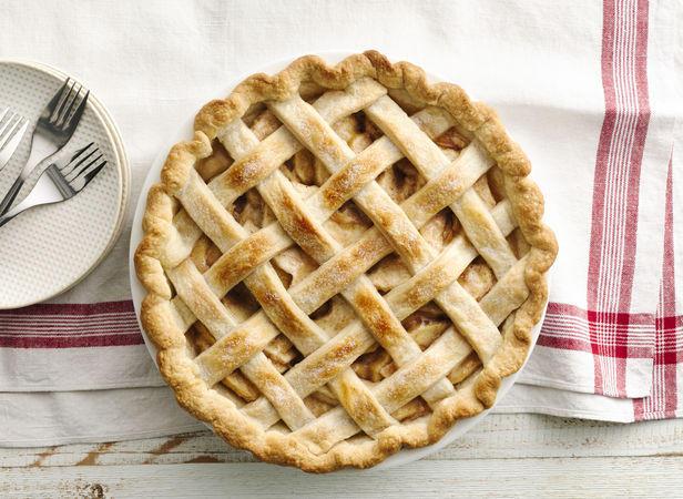 Фото Осенний яблочный пирог