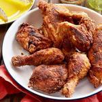 Курица, маринованная в кефире, жареная на сковороде