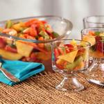 Салат из тропических фруктов в имбирном сиропе