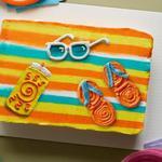 Торт из капкейков «Пляжное полотенце»