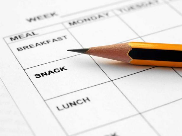 Уделите время составлению плана питания