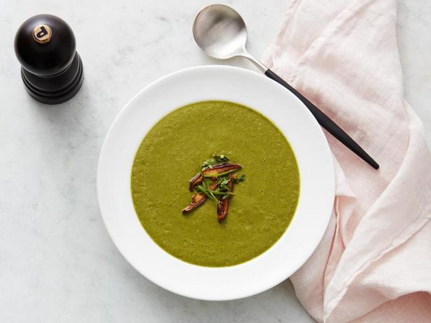 Грибной крем-суп с матча