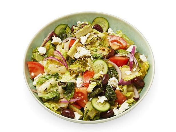 Греческий салат на гриле