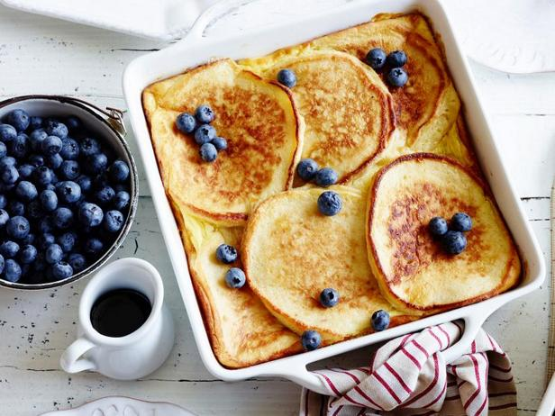 Фото Запеканка из панкейков для завтрака