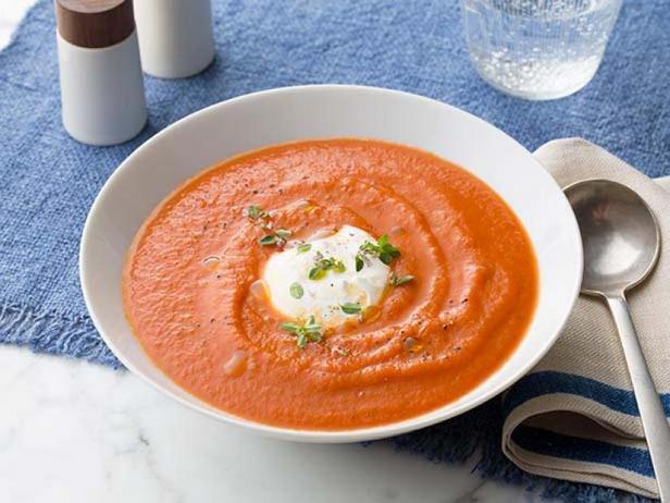 Фото Суп-пюре из печёных томатов
