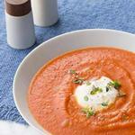 Суп-пюре из печёных томатов