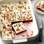 Новогодний десерт из клюквенного желе