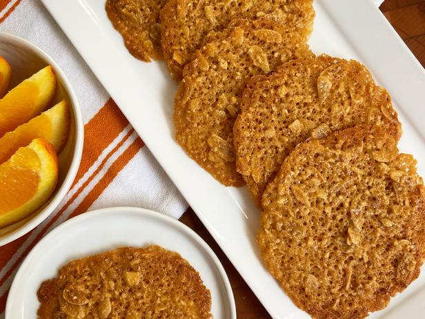 Французское кружевное печенье с апельсином