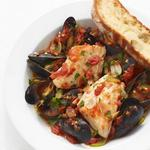 Стью из тилапии и морепродуктов
