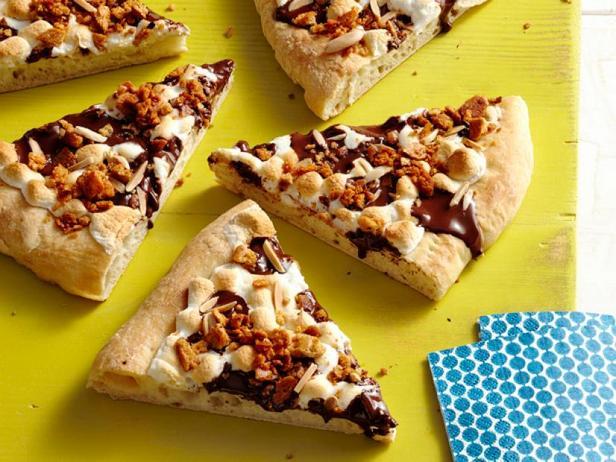 Пирог с зефиром и шоколадом «Смор»