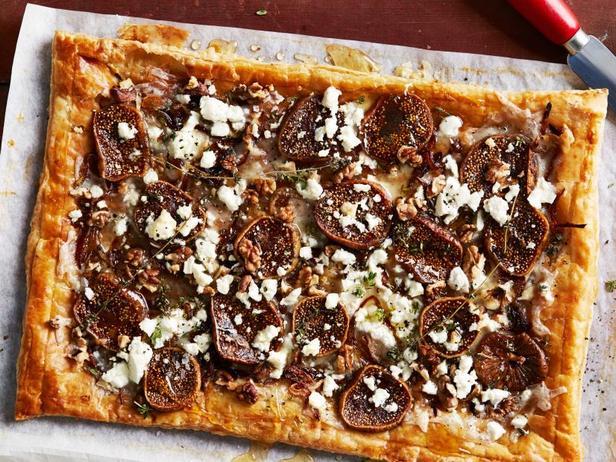Фото Простой тарт с инжиром и грецкими орехами