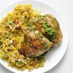Курица с рисом и кешью по-индийски