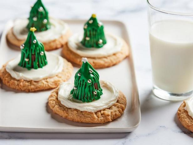 Печенье с объёмными ёлками