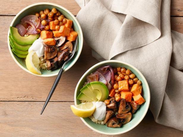 Фото Зерновой боул с печёными овощами